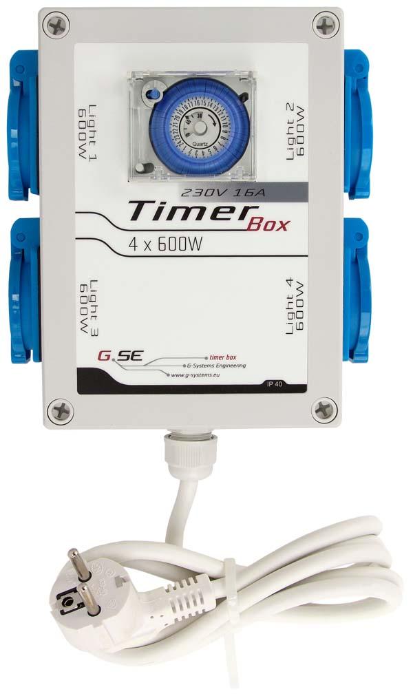 Timer Box II GSE - Spínací hodiny 4 x 600 W