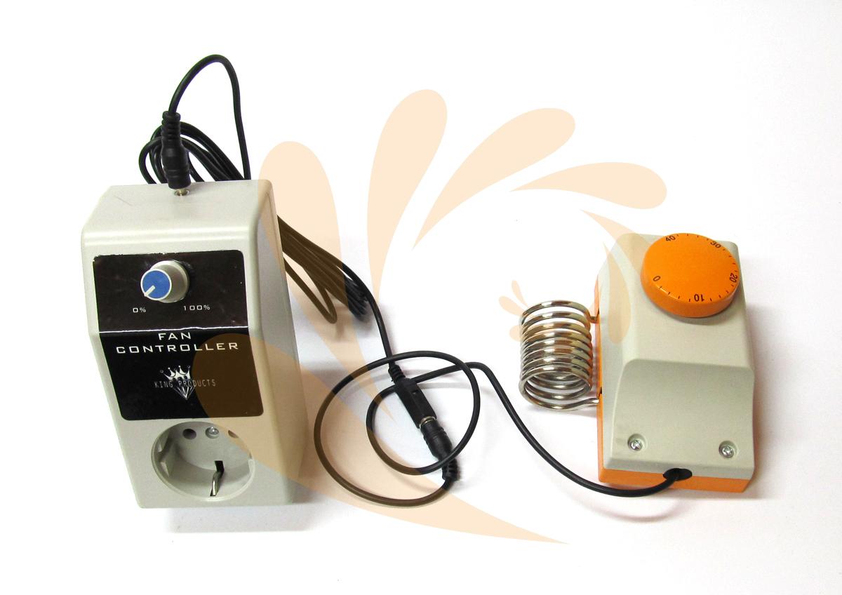 Brons regulátor otáček ventilátoru s termostatem