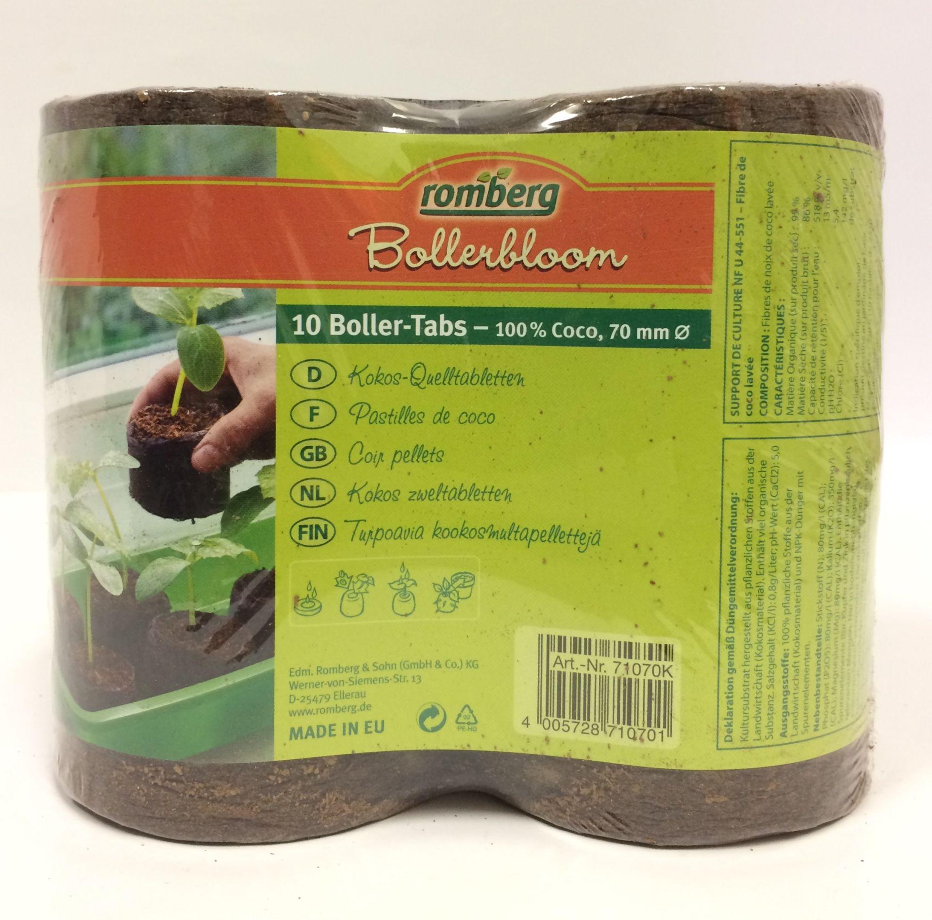Boller-Tabs 70 mm 10 ks - kokosové tablety Bollerbloom romberg