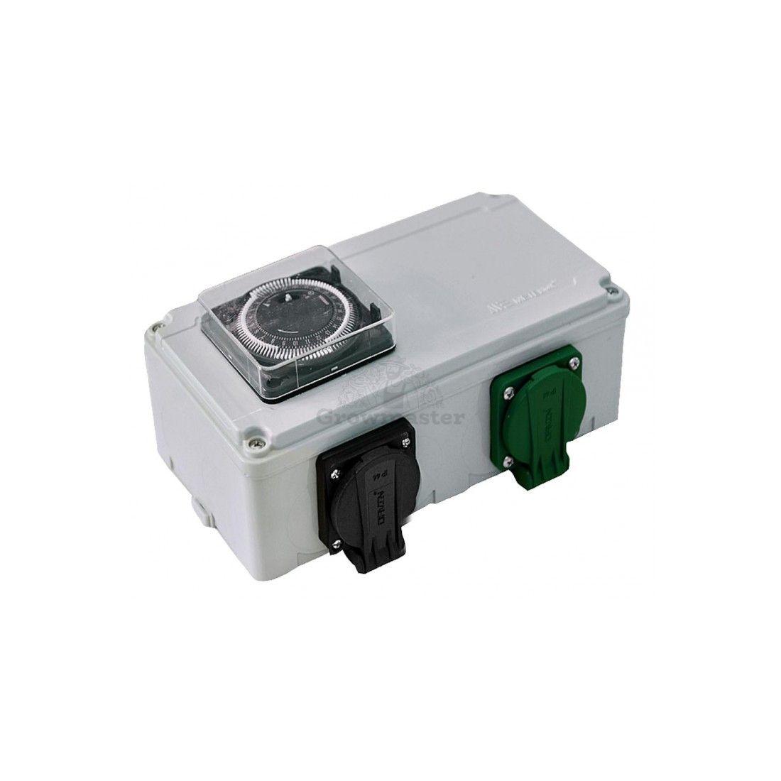 Davin DV-12K - 2x600 W spínací relé hodiny + zásuvka pro topení