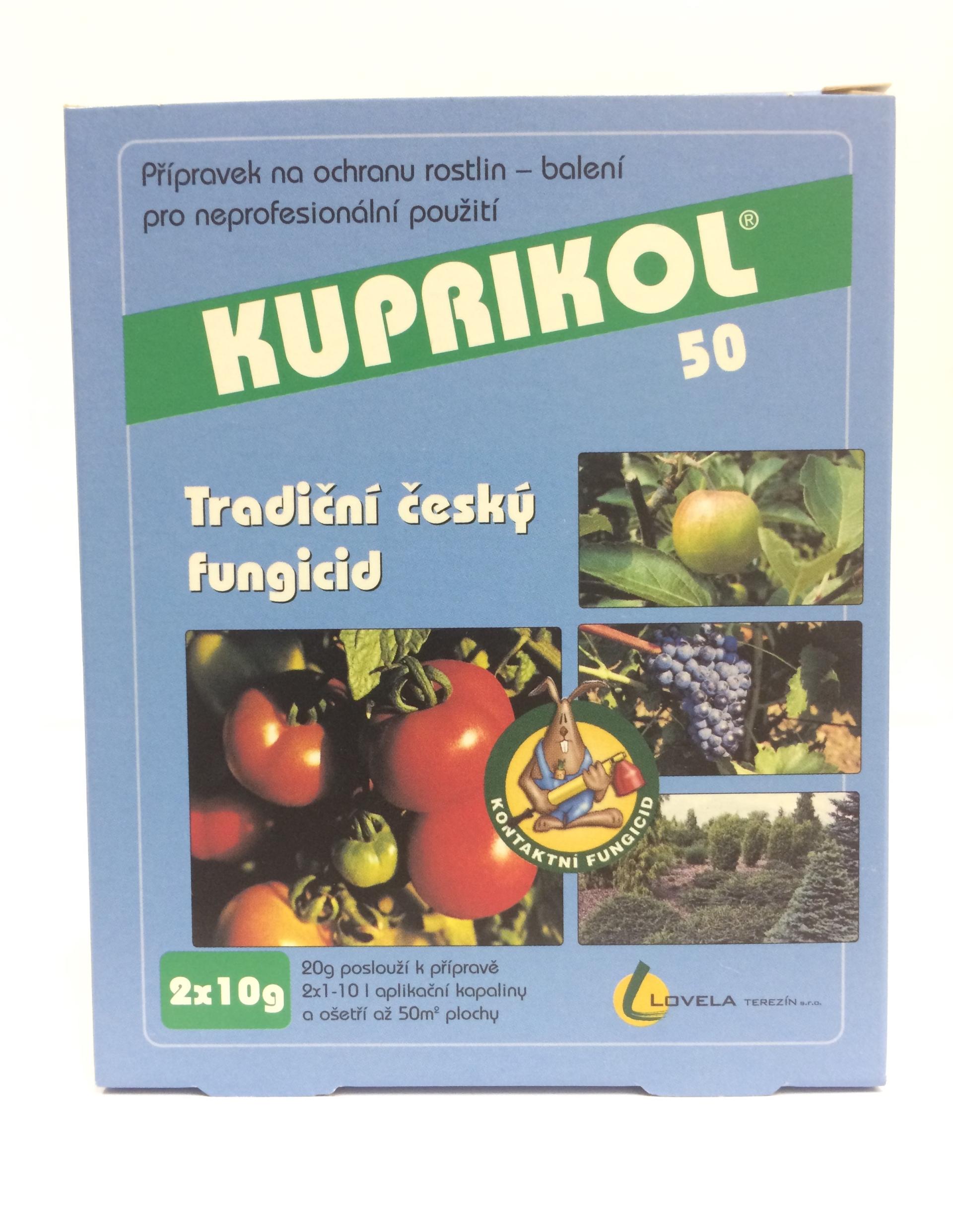 Kuprikol 50 2x10 g proti houbovým chorobám