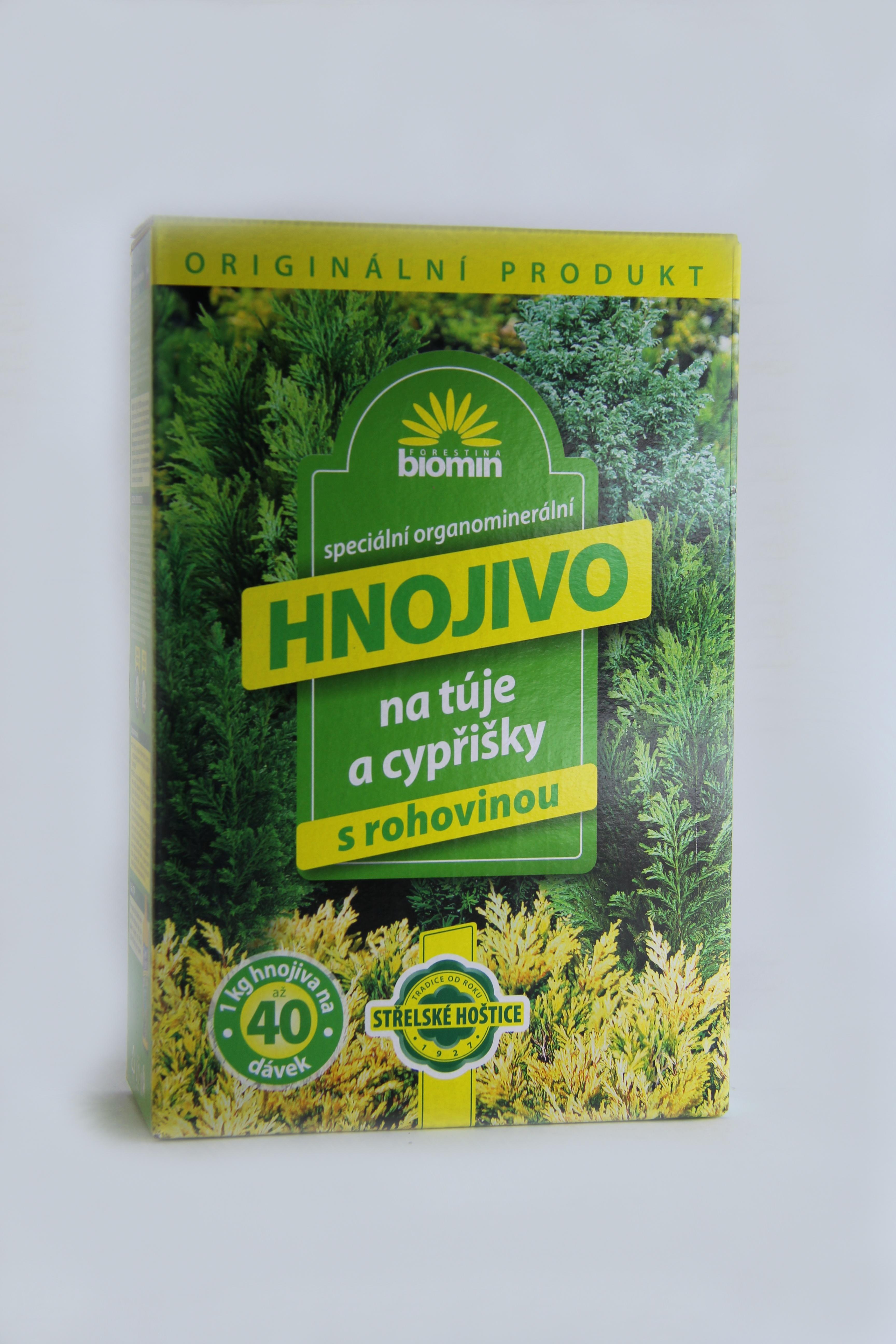Hnojivo na thuje a cypřišky s rohovinou 1 kg Forestina biomin